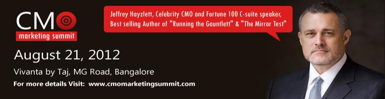 Book Online Tickets for CMO Marketing Summit 2012, Bengaluru. Wonder what\\\'s the obsession with Version 1, Version 2? Today when we go out shopping for personal or official needs it is normal to see variety/versions/types in everything on the rack. From the chips we eat to the software we consume in office e