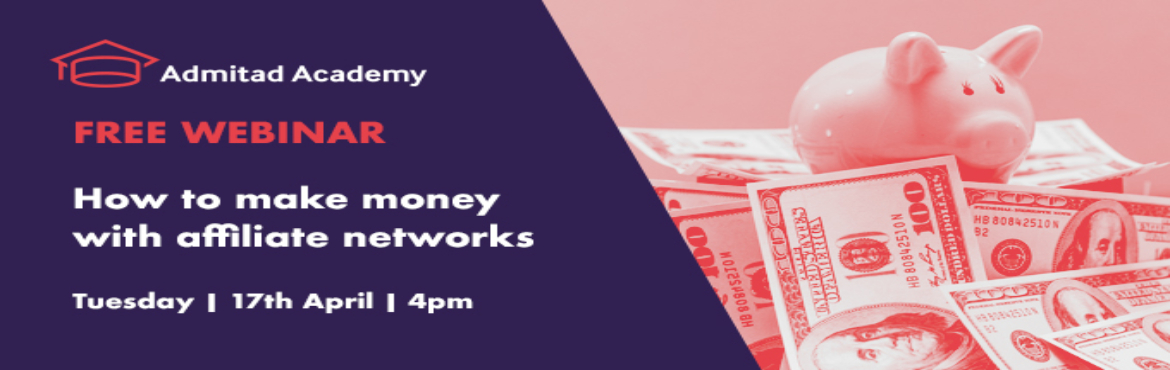 Book Online Tickets for Live Webinar- How to make money with aff, Gurugram. To start earning you just need to sign up, choose your partner and start posting links on your online advertising space. But in order not to fail, you need to know how to do it correctly.The webinar will explain in details how the affiliate network w