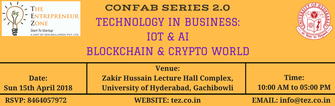 Book Online Tickets for TECHNOLOGY IN BUSINESS: Internet of Thin, Hyderabad. Today all businesses depend on technology which is ever changing. Catch on the emerging technology wave by being a part of the session in   \