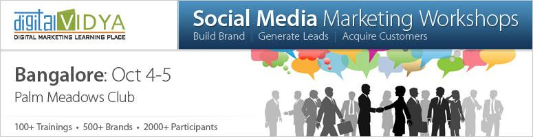 Social Media Marketing Workshop on 4th and 5th October 2012 at Bangalore