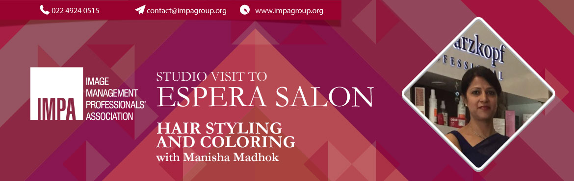 Book Online Tickets for Studio Visit To Espera Salon, New Delhi. Hair styling and coloring with Manisha Madhok and trainers from Schwazkopff Manisha Madhok is trained from L'Oreal and Makeup Studio and in the last 8 years has seen smiles brighten up peoples faces with her work. She runs 2 outlets in the most