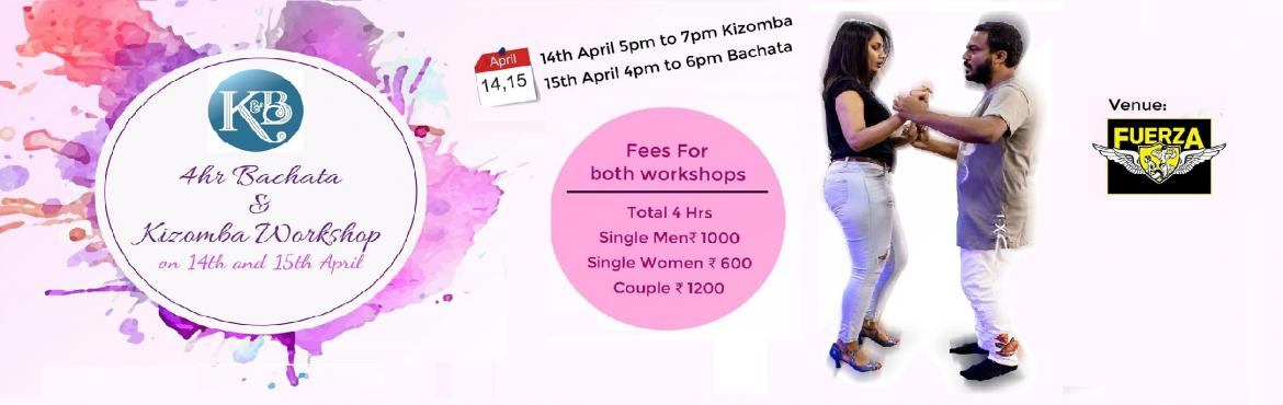 Book Online Tickets for Kizomba and Bachata Workshop By Abhijit , Bengaluru.  KizombaBachataClub is delighted to announce it\'s next bachata and Kizomba Workshop on 14th and 15th April at ItsKoramangala Studio after the successfull previous events at Kormangala and Indiranagar studio.Introducing a 4hr beginners Kizomba a