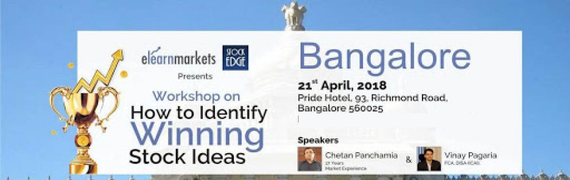 Book Online Tickets for How To Identify Winning Stocks Ideas, Bengaluru.  Globally, investing in stock markets has been an incredible option for wealth creation for a long time. If you want to earn superlative returns from your investments, then you will have to invest in the stock markets, sooner or later. Th
