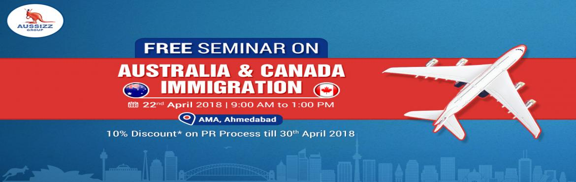 Book Online Tickets for Seminar On Australia and Canada Immigrat, Ahmedabad. Calling all the aspirants who want to migrate to Australia or Canada! Do you want to gain clarity on Australia / Canada Permanent Residency process and your eligibility? Attend the Free Seminar on Australia & Canada Migration!! Date:  2
