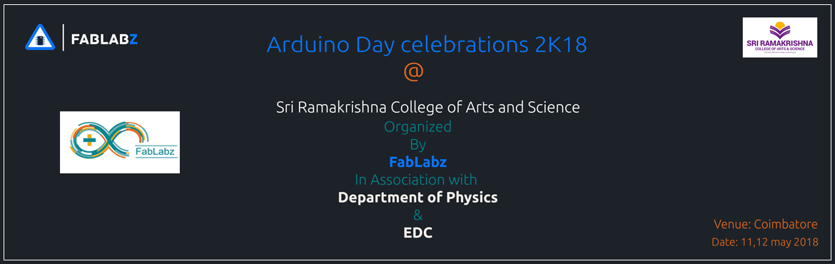 Book Online Tickets for Arduino Day 2K18, Chennai. Arduino Day is a worldwide birthday celebration of Arduino on 12th May. It\'s a 24 hour-long event – organized directly by the community, or by the Arduino founders – that brings people together to share their experiences and learn more a