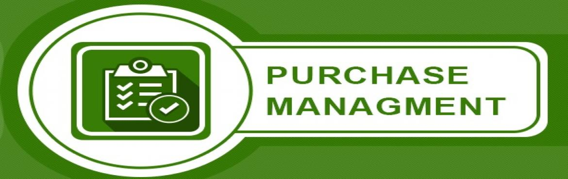 """Book Online Tickets for Effective Purchase Management, Chennai. Introduction                   Effective purchasing is important for any enterprise – manufacturing or service, public or private. Over the last few decades, the nature of this function has radically changed from just """"negotia"""