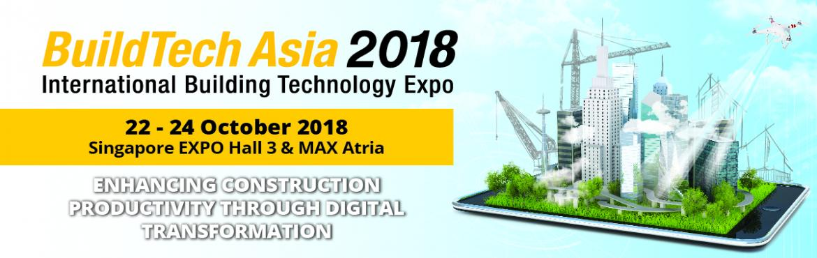 Book Online Tickets for BuildTech Asia 2018 , Singapore.   Riding on the success of the previous staging, the 8th edition of BuildTech Asia returns as the premier platform for the built environment sector in the region. BuildTech Asia 2018 will showcase the latest smart construction and productive tec