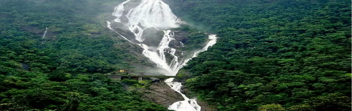Book Online Tickets for Dudhsagar trek and dandeli rafting, Bengaluru. OVERVIEW:Dudhsagar Falls (literally Sea of Milk) is a four-tiered waterfall located on the Mandovi River in the border of the Indian state of Goa and Karnataka. Dudhsagar Falls is amongst India\'s tallest waterfalls with a height of 310 m (1017