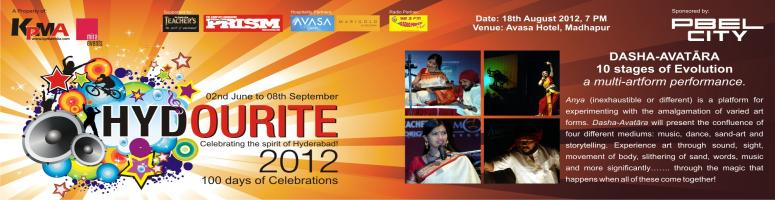 Book Online Tickets for Hydourite 2012 - Dasha-Avatara by ANYA, Hyderabad. DASHA-AVATÄ€RA
