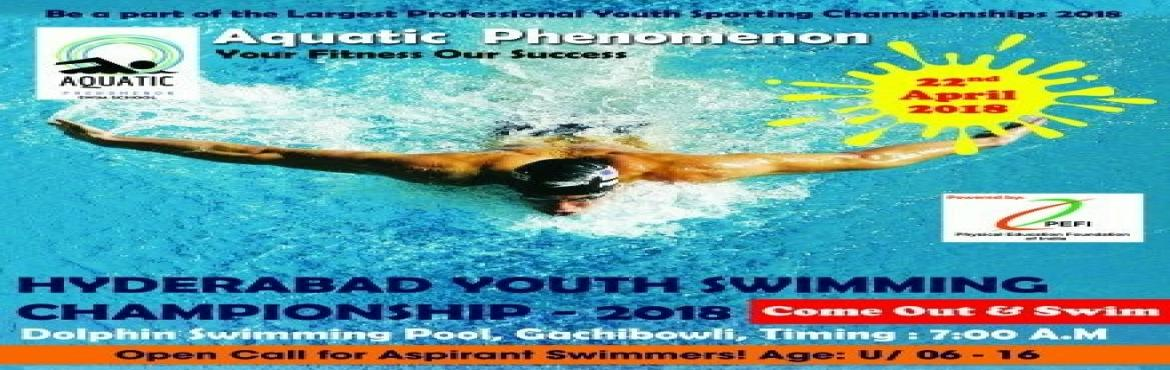 Book Online Tickets for Hyderabad Youth Swimming Championship - , Hyderabad. The aim of the event is to encourage the youth of Hyderabad to develop an awareness about the importance of being healthy and fit through the medium of swimming. The people behind this swimming competition are passionate and professional swimmers and