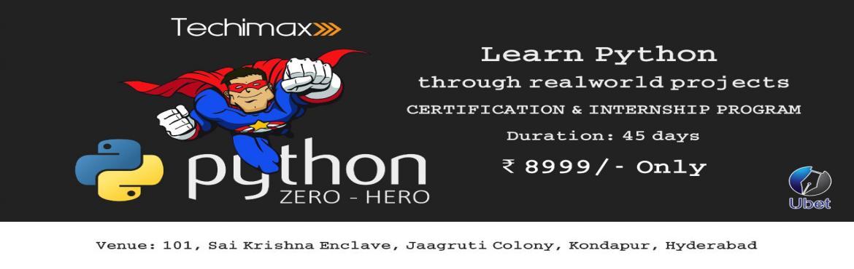 "Book Online Tickets for Big Data with Python : Summer Internship, Hyderabad. UBET - Trainings, Marketing & PR Solutions announces its Internship session this summer 2018 on ""Python with Big Data\"
