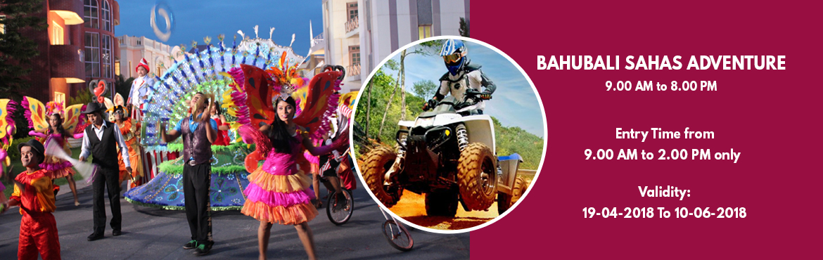 Book Online Tickets for Holiday Carnival Sahas, Hyderabad. Activities :  High Rope Course (Level 1) Reverse Bungee Ejection Human Fooseball Melt Down Sand Volley Ball MTB/Cycling Fundamental Challenge Happy Hits Live Entertainment Shows at Eureka (06:00 P.M.Onwards) Spectacular Carnival Parade Experien