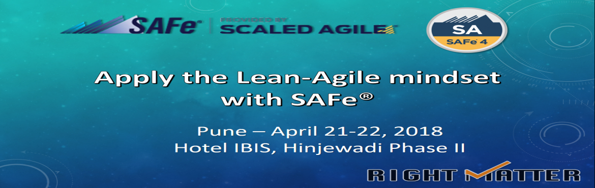 Book Online Tickets for Leading SAFe with SAFe Agilist Certifica, Pune. This course is designed to introduce the principles and practices of Scaled Agile Framework® (SAFe®). During the two day training participants would learn the Lean-Agile principles and what it takes to lead a Lean-Agile transformation. Attend