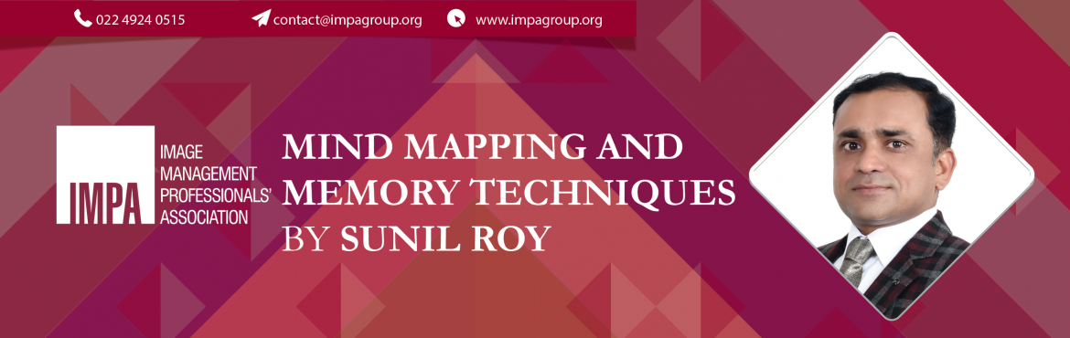 """Book Online Tickets for Mind Mapping and Memory Techniques, Bengaluru. By Sunil RoyMind Coach, Author & Entrepreneur  Sunil Roy is an Arbiter at World Memory Championship, Mind Coach, Author and Entrepreneur. He is a Mechanical Engineer and alumni of Indian Institute of Managment, Calcutta. His trainings """"You"""