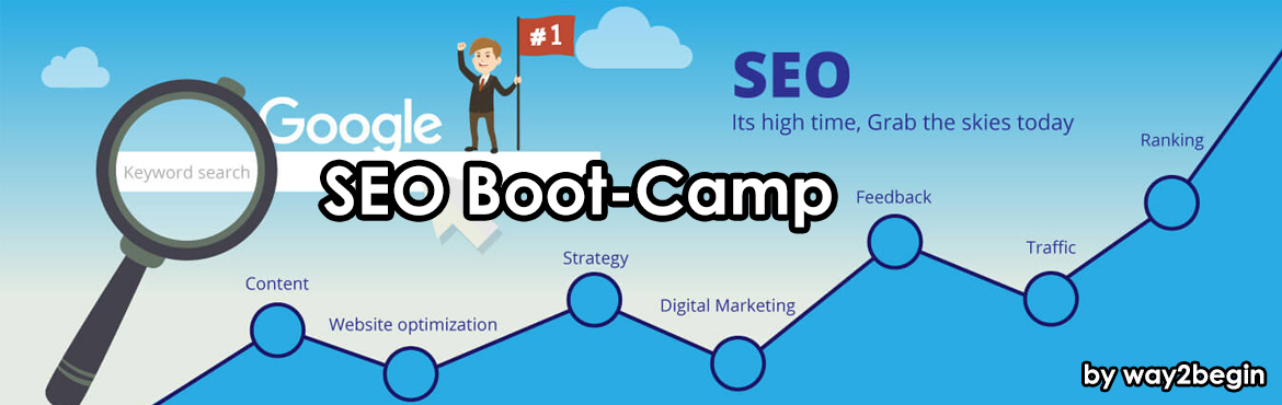 Book Online Tickets for SEO Boot-camp by way2begin, Hyderabad. This is a one-day workshop, this workshop about Search Engine Optimization, On-page SEO, Off-page SEO, Local SEO, how to get more site visits. Outcome: After this workshop, you will able to do Website Analysis, Competitor Analysis, Keyword Research,
