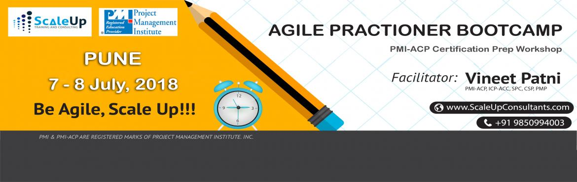 Book Online Tickets for PMI-ACP Certification Prep Workshop Pune, Pune. About The Event   About PMI-ACP Agile Training:   PMI-ACP® certification is a flagship Agile certification from the Project Management Institute (PMI). The PMI-ACP® recognizes knowledge of agile principles, practices andtool