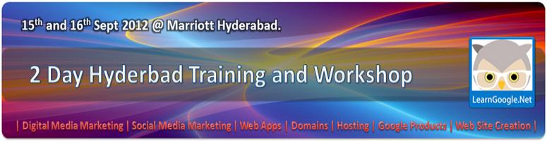 Book Online Tickets for LearnGoogle.Net Hyderabad Workshop, Hyderabad.                                               LearnGoogle.Net Hyderabad Workshop             15th & 16th September Marriott Hyderabad                                       | Venue | Marr