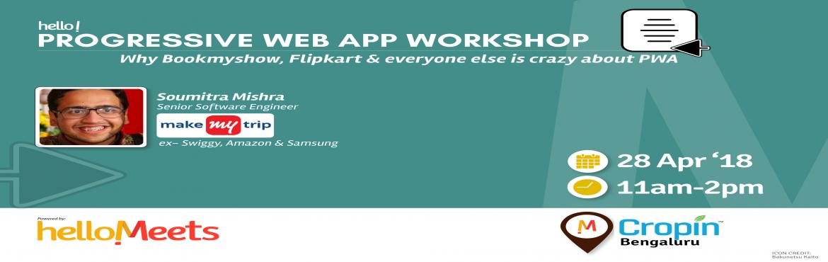 "Book Online Tickets for Progressive Web App Workshop, Bengaluru.    What is a Progressive Web App?   ""A Progressive Web App uses modern web capabilities to deliver an app-like user experience."" Progressive Web Apps bring features we expect from native apps to the mobile browser experience in"