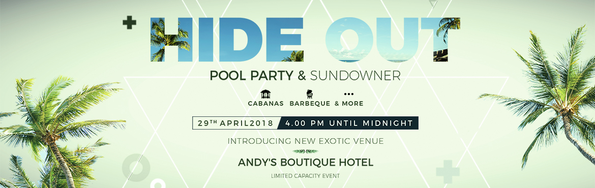 Book Online Tickets for  HIDEOUT: POOL PARTY and SUNDOWNER, Mumbai.  HIDEOUT: POOL PARTY & SUNDOWNER Video Link: https://youtu.be/jfb6MAx4Up4 About Event: HIDEOUT is a limited capacity exclusive event for likeminded couple\'s & individuals to come together and experience new exotic locations with perfect