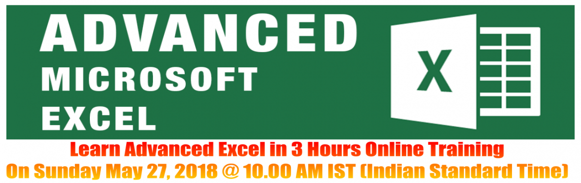 Advanced Excel (Intermediate to Advanced Level) Online Training on 27-May-2018 - Info2Excel