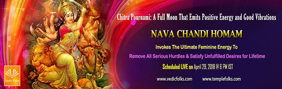 Book Online Tickets for Chitra Pournami 2018, Chennai.   Chitra Pournami The moon is in full brilliance on the Pournami day. The energy of the moon is so powering on the day of Pournami that it lifts the spirits of the people and brings about a positive atmosphere. Goddess Chandi or Durga has activa