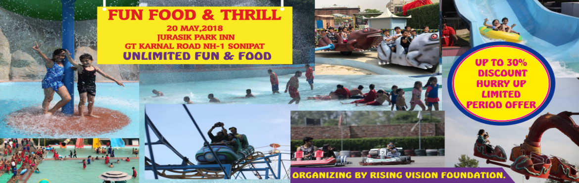 Book Online Tickets for Water Park Fun  Food Thrill  2018 , Sonipat.  FUN FOOD THRILL 2018   ATTRACTIVE WATER RIDES:  &nb