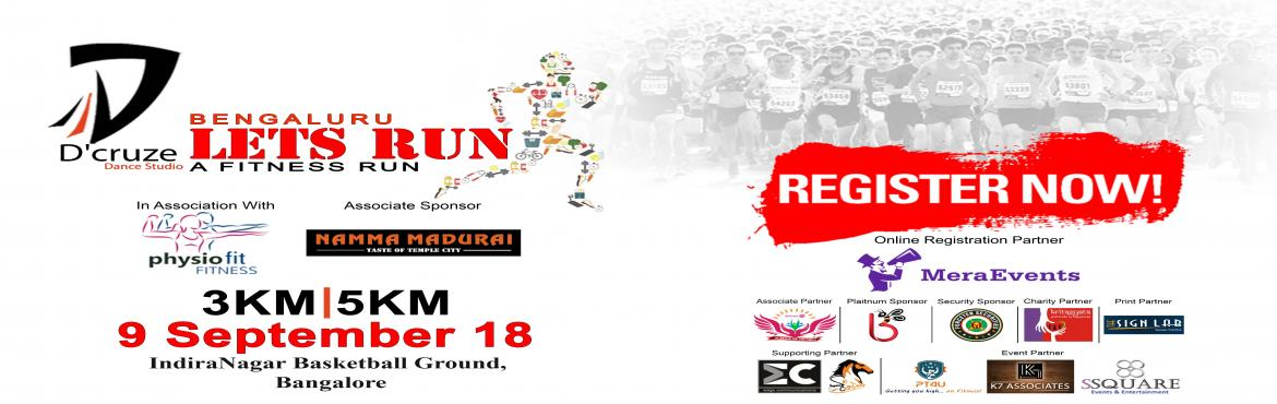 Book Online Tickets for LETS RUN - RUN FOR CAUSE, Bengaluru. We are back with the 2nd edition \