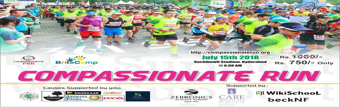 """Book Online Tickets for Compassionate Run - Become a Charity Run, Hyderabad.   Compassionate Run is a run powered by Britecamp.com [a website promoting children's art and craft]. A non-profit organization. The purpose of the run is to promote the """"Art of Giving"""" with the children. The idea is to make t"""