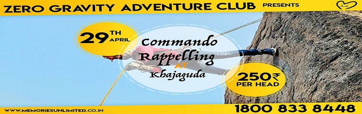 Book Online Tickets for Commando Rappelling at Khajaguda, Hyderabad.   What we\'ll do   Khajaguda is 1 km away from West Durgam Cheruvu. The place is most favourite for hiking, rock claiming and rappelling close to the city. This place has lot of boulders, a lake and numerous amazing caves. There are many pe