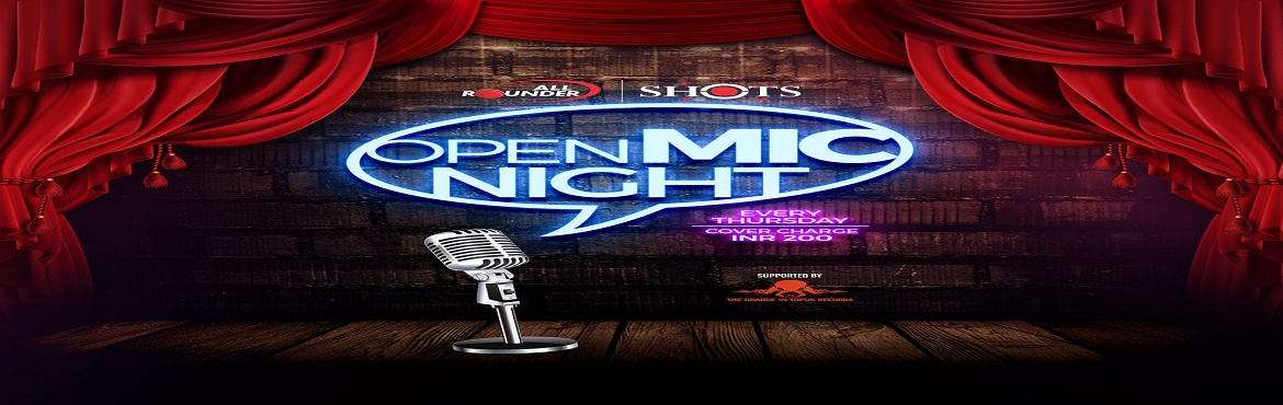 Book Online Tickets for Open Mic Night, Pune.                   All Rounder brings you The Open Mic in collaboration with The Orange Octopus Records.Make way for the city\'s emerging artists and dazzle yourself with a night filled with entertainment.