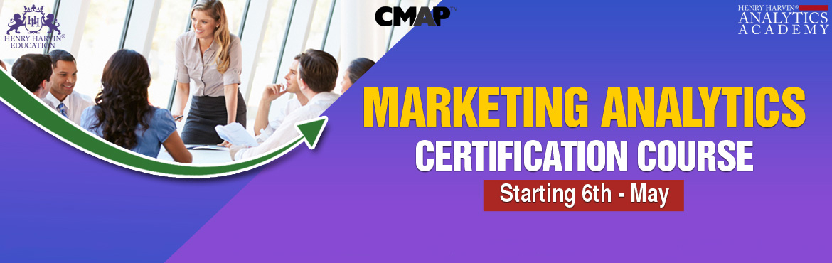 Book Online Tickets for Marketing Analytics Course by Henry Harv, noida. Henry Harvin Education introduces 5-days / 20-hours Live Virtual Training and Certification course on \'Certified Marketing Analytics Practitioner\' program that equips participants with explore+analyze+solve marketing problems using popular ana