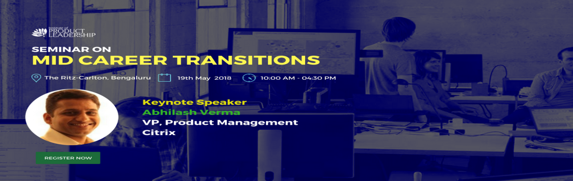Book Online Tickets for Seminar on Mid Career Transition, Bengaluru. Institute of Product Leadership welcomes its audience to an insightful event that will host a seminar on career anchor and product leadership as a career path. The day is tailored with dedicated seats to serve professionals looking for a career switc