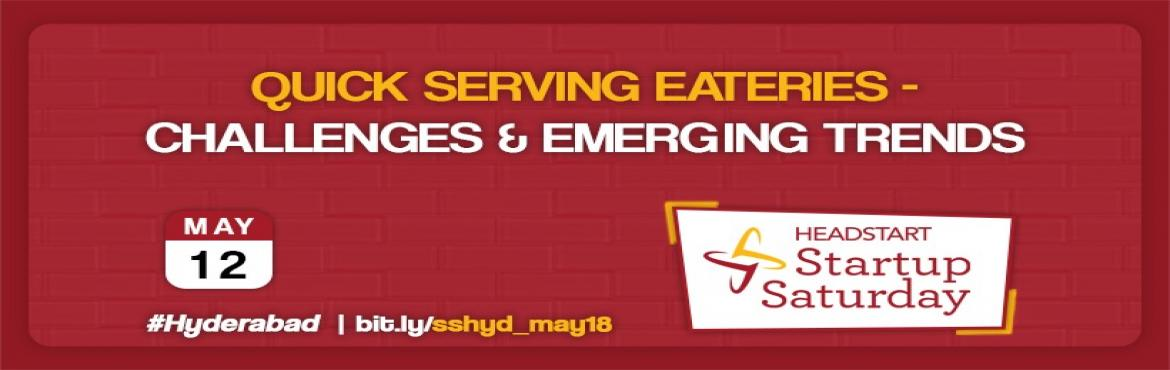 Book Online Tickets for Quick serving eateries - Challenges and , Hyderabad.  The evergrowing industry which has a market capitalization of 46 Billion want to know opportunities around? Join us at http://bit.ly/sshyd_may18 Speaker  Details :  Rahul, Co-Founder of Tasty Bowl Trinath, Co-Founder of Kavanah C