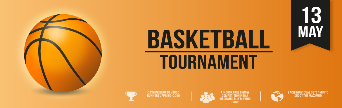 Book Online Tickets for Basketball Tournament, Bengaluru. FREE THROW INDOOR BASKETBALL COMPETITION. EACH INDIVIDUAL WILL GET 1 MINUTE TO SHOOT AS MANY SHOTS POSSIBLE INTO A MECHANICALLY MOVING HOOP.WINNERS STAND A CHANCE TO WIN CASH PRIZE. 1ST PRIZE – 30002ND PRIZE – 2000 3RD PRIZE –