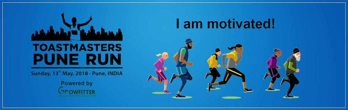 Book Online Tickets for Toastmasters Pune Run, Pune. The Toastmasters Pune Runis an unconventional race that celebrates confidence, self-motivation, and individuality. Here everyone who participates is a winner because your spirit is more important than the result. There is a leader in you when y