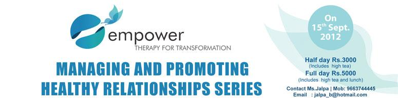 Managing and promoting healthy relationships series