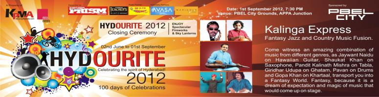 Book Online Tickets for Hydourite 2012 -Kalinga Express, Hyderabad. KALINGA EXPRESS____________________________________________Fantasy Jazz and Country Music Fusion. ____________________________________________1st September 2012