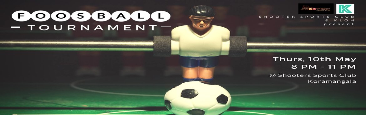 Book Online Tickets for Foosball Tournament, Bengaluru. We are BACK with FOOSBALL Tournament, Koramangala EditionCalling all the Foosball Champs to play in this tournament. Play against other Foosball champs and redeem yourself in the game of kicks. After all, a little competition never hurt anybody