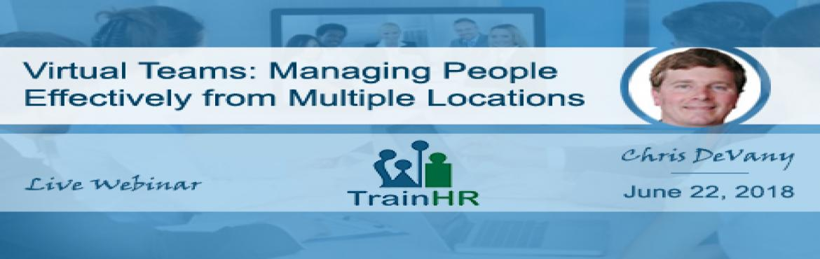 Book Online Tickets for Virtual Teams: Managing People Effective, Fremont.  Overview: Every manager knows that the best - and fastest - way to learn a new skill is through practice. That\'s why we\'ve packed this hard-hitting workshop with powerful exercises models and case studies specifically designed for managers of
