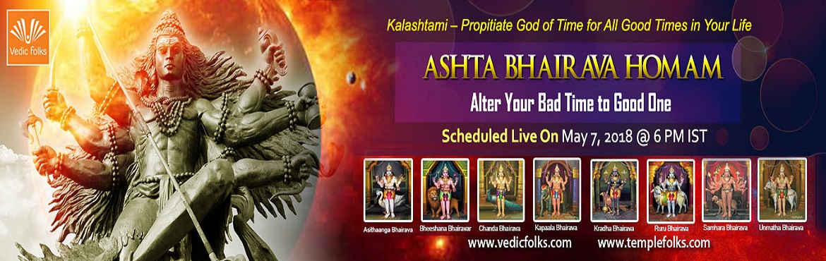Book Online Tickets for Kalashtami, Chennai. Kalashtami – Propitiate God of Time for All Good Times in Your Life Kalashtami is dedicated to Lord Kala Bhairava and is observed on Krishna Paksha Ashtami Tithi the eighth day after full moon. It is very auspicious to devote the day to Lord Ka