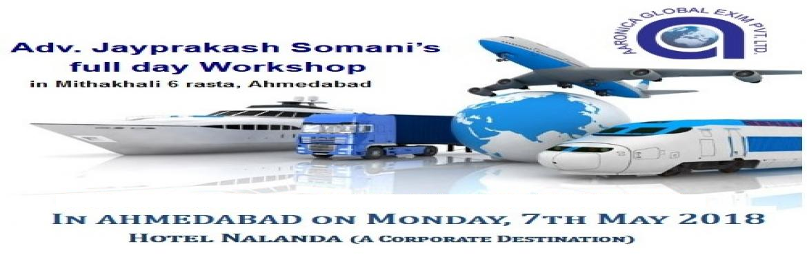 Book Online Tickets for Join Workshop in Ahmedabad to Make Your , Ahmedabad. Today, There are many export import management jobs available in the indian market. With the growth of the foreign trading, getting jobs in this sector has become very comfortable. You just need to have a good source of knowledge with you and t