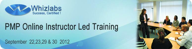 PMP Online Instructor Led Training