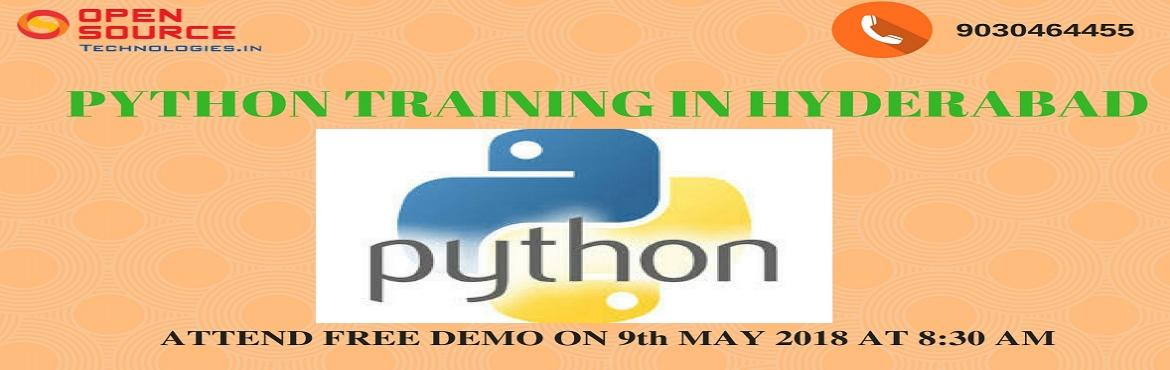 Book Online Tickets for Attend For The Free Interactive Python D, Hyderabad. Attend For The Free Interactive Python Demo At Open Source Technologies On 9th Of May 2018 @ 8:30 AM.  Free Python Demo At Open Source Technologies At 9th Of May 2018 @ 8:30 AM.  Speed up your career by opting Python Training in Hyderabad
