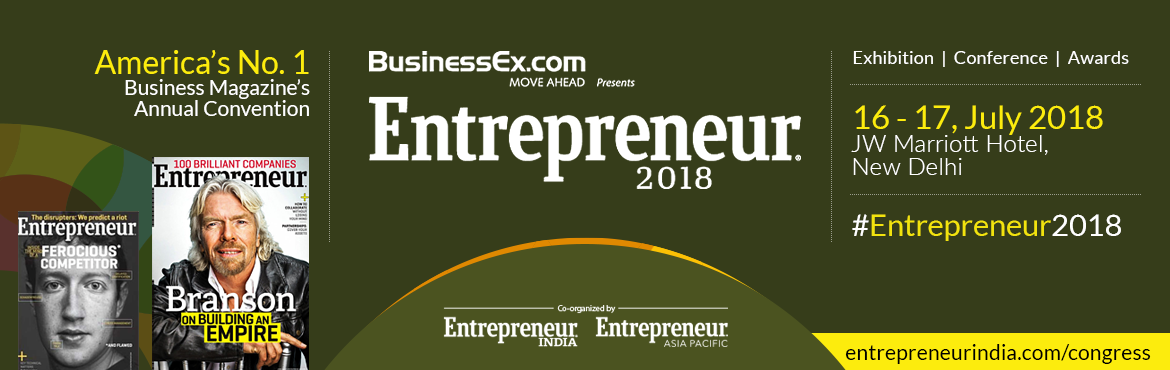 Book Online Tickets for Entrepreneur 2018, New Delhi. America's Number 1 business magazine, Entrepreneur is coming back with its 8th Annual Global Summit on Future Businesses- Entrepreneur 2018. This one-stop platform will the leading Entrepreneurs, Start-ups, SME, Investors, Global Luminaries, In