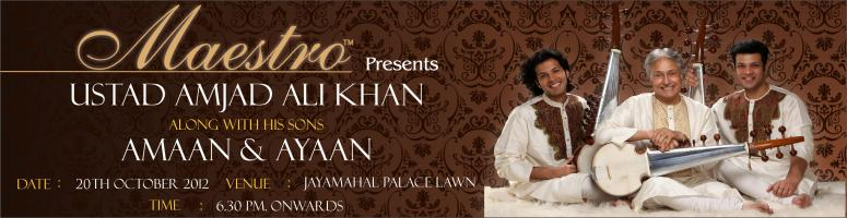 An Evening With The Maestro - Ustad Amjad Ali Khan & Sons