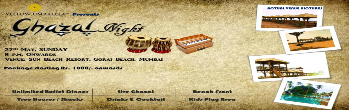 Book Online Tickets for Gazal Night by the Bay - Gorai, Mumbai.   A Live Ghazal Concert by Ranjan Debrath. Ready to set the mood with his timeless Ghazals.   The concert promises to be a complete treat for music lovers.   Ghazal Night will have a separate Kids party Zone where only ladies and kids