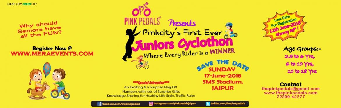 Its a junior cyclothon only for kids to promote cycling organized by Pink Pedals.
