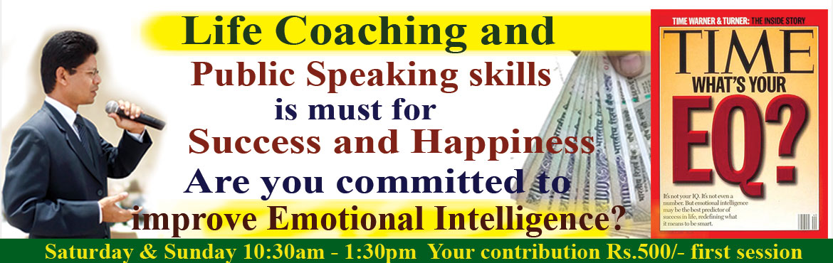 Book Online Tickets for Developing Public Speaking and Emotional, Hyderabad.  I realised developing effective communication skill & Emotional Intelligence (EQ) is the vital stage in climbing the ladder of success. The first impression is created from the physical appearance such as dressing and second impression is f