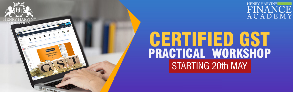 Book Online Tickets for GST Practical Workshop by Henry Harvin E, New Delhi. Henry Harvin Education introduces\'GST Practical Workshop\' that gives a 360-degree insight on GST by GST Expert who speaks at AAJ TAK, NDTV and more.Please find below related information: &