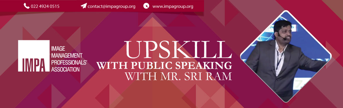 Book Online Tickets for UPSKILL with Public Speaking With Mr. Sr, Chennai.  Mr Sri Ram has over 12 years of experience working as a lead manager in a MNC. He is a toast master speaker with a public speaking experience of 5 years. He has mentored and coached 20+ personalities in this field of public speaking. He has gi